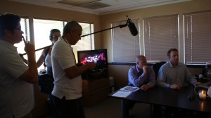 Larry Burow and Matt Brys Shoot Scene For Platinum Weddings TV Show