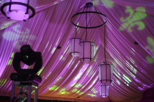 Customized Flur De Leis Lighting by Extreme Productions Entertainment