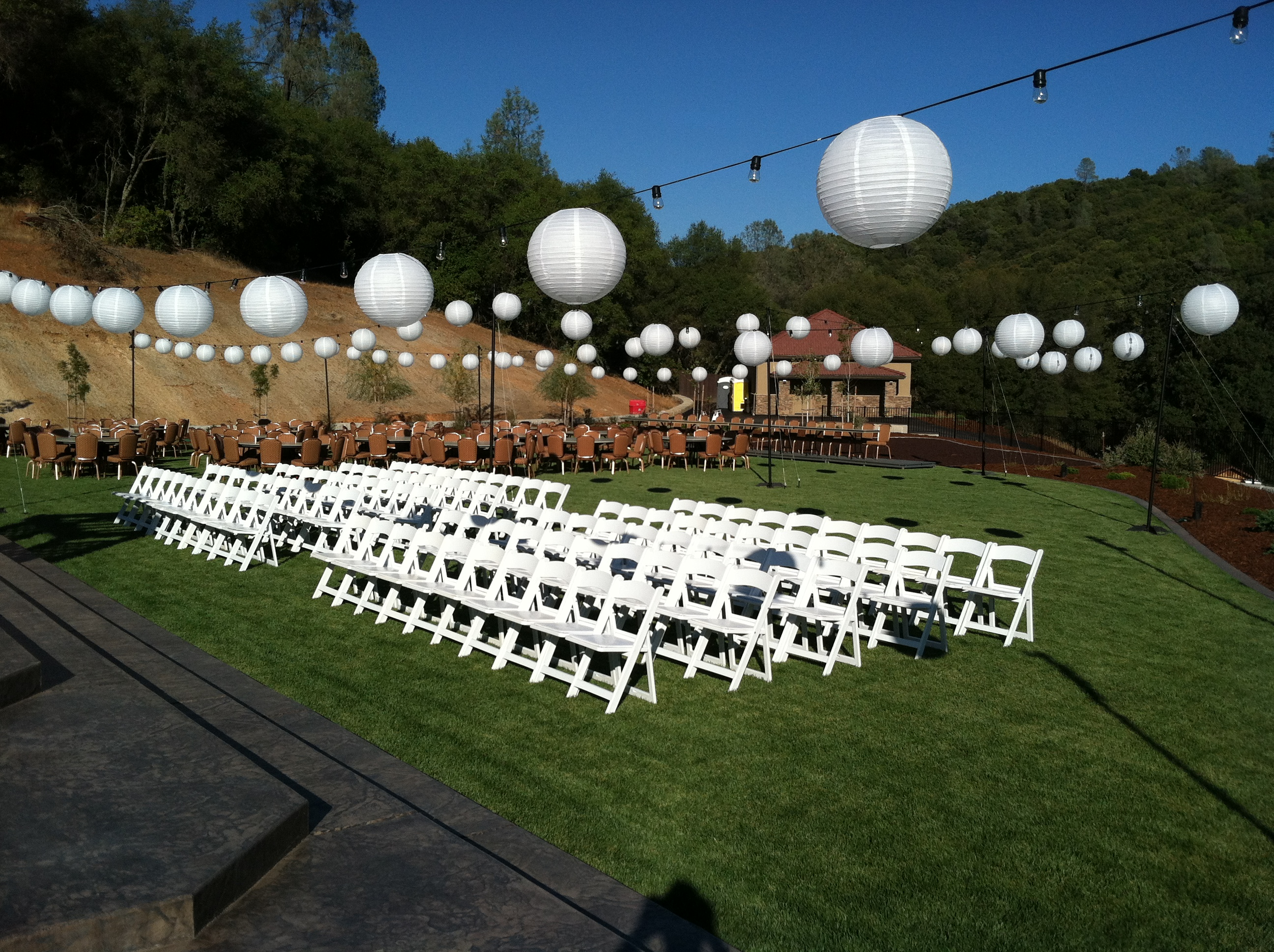 outdoor wedding lighting sacramento extreme productions blog